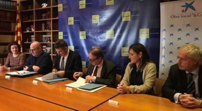 """""""la Caixa"""" i l'Ajuntament de Banyoles presenten la seva aliança per superar la pobresa infantil"""