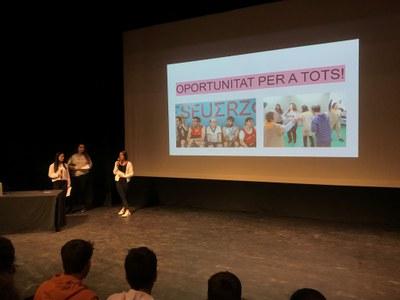 Alumnes d'ESO proposen les seves propostes per Banyoles amb el Projecte TONI
