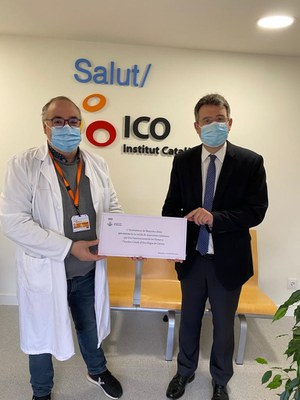 Banyoles dona a l'ICO els diners de les mascaretes solidàries del 8 de març