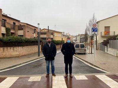 Banyoles finalitza les obres d'urbanització del darrer tram del carrer Divina Pastora