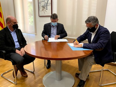 Banyoles signa un conveni de col·laboració amb grup Bon Preu en el marc del procés de selecció de personal pel nou Esclat