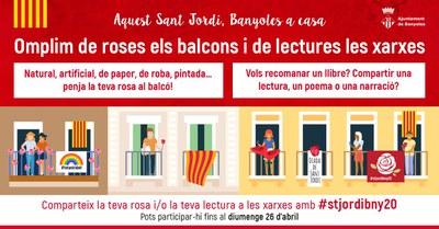 Banyoles inicia la celebració virtual de Sant Jordi