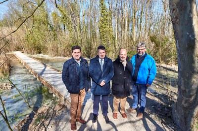 El Consorci de l'Estany enllesteix les obres de conservació i millora de l'itinerari a peu pel Pla dels Estanyols de la Puda