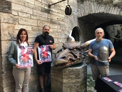 El Drac de Banyoles i la seva llegenda, protagonistes de la 11a Fira Medieval Fantàstica Aloja