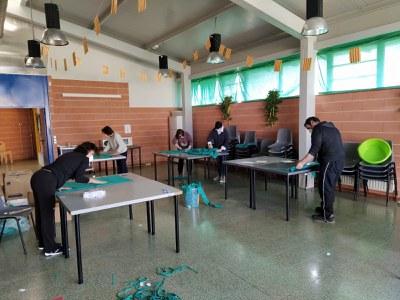 El Pla de l'Estany elabora 7.500 mascaretes per centres residencials i col·lectius vulnerables de la comarca