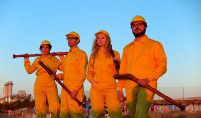 """El quartet de flautes de bec Windu porta l'espectacle """"Under construction"""" a l'Auditori de l'Ateneu de Banyoles"""