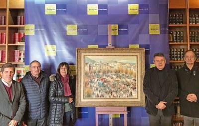 L'Ajuntament de Banyoles compra el quadre Fira de Sant Martirià de Joan de Palau, en l'any del centenari del seu naixement