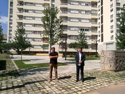 L'Ajuntament de Banyoles finalitza les obres de remodelació de la plaça dels pisos de 'la Caixa'