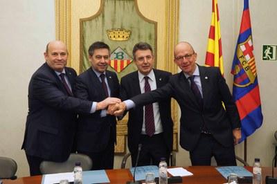 L'Ajuntament de Banyoles i el FC Barcelona renoven l'acord de col·laboració