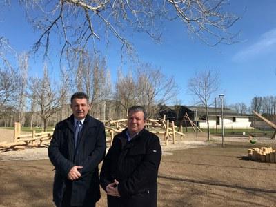 L'Ajuntament de Banyoles remodela i amplia el parc infantil del parc de la Draga