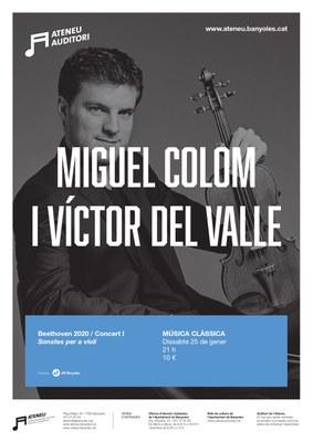 L'Auditori de l'Ateneu iniciarà temporada dissabte amb un concert de Miguel Colom i Víctor del Valle