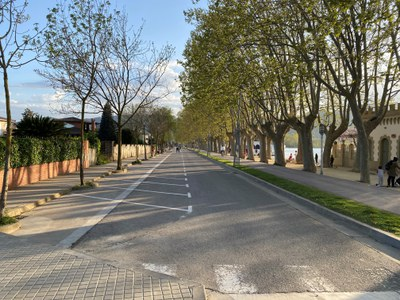 L'espai del front de l'Estany de Banyoles continuarà per a vianants i bicicletes