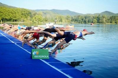 La Copa d'Europa Júnior i el Campionat d'Espanya Elit tanquen el cap de setmana de triatló internacional a Banyoles