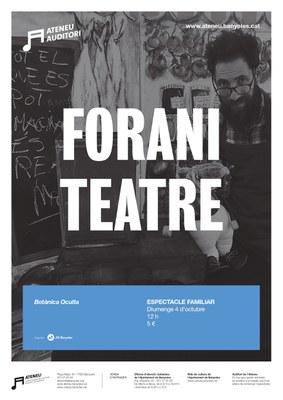 """L'Auditori de l'Ateneu s'uneix a la commemoració de l'Any Perucho amb l'espectacle familiar """"Botànica Oculta"""" de Forani Teatre"""