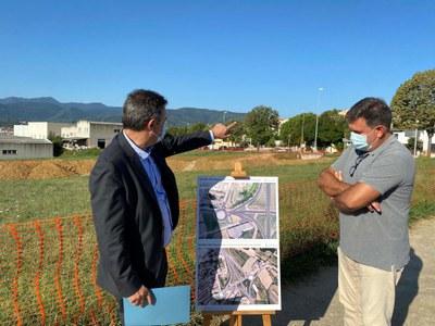 Milloraran l'accés nord al barri de Can Puig de Banyoles amb una nova rotonda