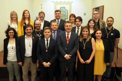 Miquel Noguer, proclamat de nou alcalde de Banyoles