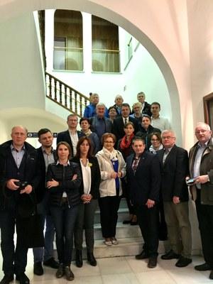 Una delegació d'alcaldes i alcaldesses polonesos visita Banyoles